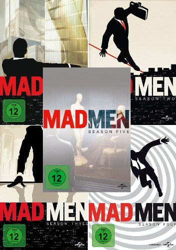 Mad Men - Die komplette 1. + 2. + 3. + 4. + 5. Season (20-Disc | 5-Boxen) - Dvd Mad 5 Tv-season