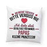 Outfitfaktur Papas Kleine Prinzessin Kopfkissen (Kissenbezug)