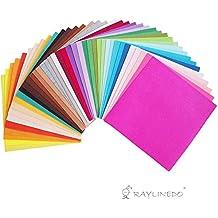 RayLineDo® 40X varios colores diferentes de fieltro no tejido Patchwork 30 * 30 cm hoja de cuadrados de estilo moderno mm SPEZIAL Project Material acolchado álbumes de recortes