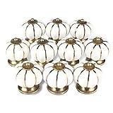 10 piezas de pomos de cerámica en forma de calabaza, de ONSON, pomo vintage para puerta, cajones de armarios, puertas de muebles, cocina, hogar, decoración