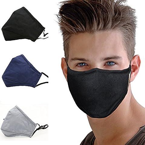 Aktivkohle Filter Anti Dust Gesicht Mund Maske, witery Warm Anti Staub Maske Anti-Fog Maske Antibakterielle Aktivkohle Filter verstellbar Cechya Mund Maske Masken für Männer Frauen