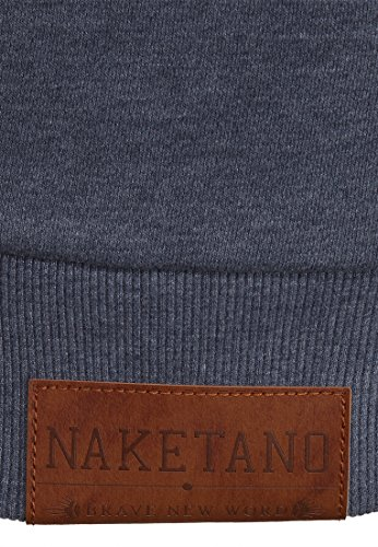 Naketano Male Hoody Tessarect V Dark Ash Melange