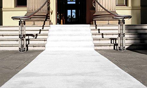 Weiß Eventteppich VIP Carpet Läufer Teppich Empfangsteppich in Breite 1,5 m und Länge 15 m