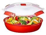 Sistema Round Microwave Dish, Red, 1.3 L