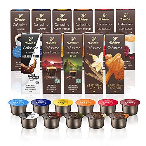 Tchibo Cafissimo Probierbox Caffè Crema, Espresso, Kaffee 110 Stück (11 x 10 Kapseln)