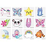 HENBRANDT 24 x Cute Temporary Tattoos Children's Birthday Loot Party Bag Filler