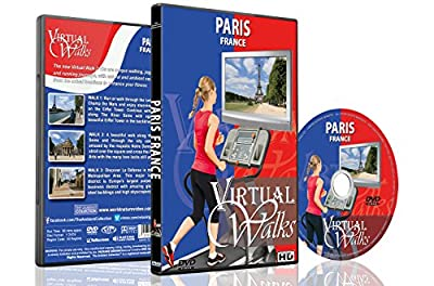 Virtual Walks - Paris France for Indoor Walking Treadmill and Cycling Workouts from The Ambient Collection