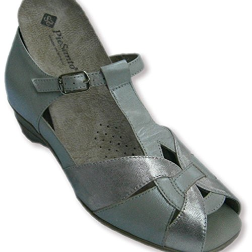 Sandalen hinter und offene kombinierte beige und Metallspitze geschlossen Pie Santo beig Beig