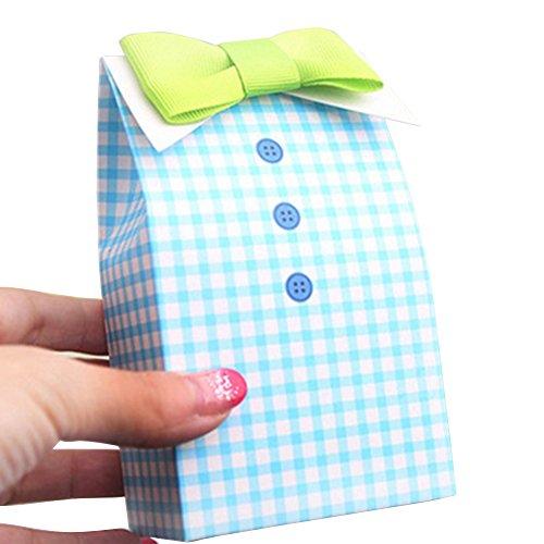 t Krawatte Schleife Hochzeit Baby Dusche Party Candy Geschenk Box Gastgeschenken Tasche, Papier, Bow Tie, Einheitsgröße ()