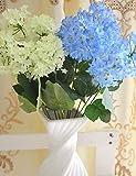 Aufrechtzuerhalten,Künstliche Blumen, ein Haufen von 7 Gabel 7 Blumen lila Tuch Blumen (2 Stück) , 6