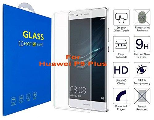 Huawei P9 Plus - Curvo 3D Cristal Templado Protector de Pantalla, 3D completo borde curvado [ borde a borde ] para Huawei P9 Plus (Clear)