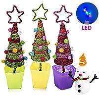 Macrourt Árbol de Navidad DIY Muñeco de Nieve Decoración Creativo Juguetes Educativos para Niños Casa