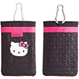 Hello Kitty HKMCBK Universal Mobile Phone Bag with Lanyard and Carabineer - Black