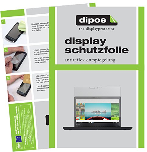 dipos I 2X Schutzfolie matt passend für Lenovo ThinkPad T470 Folie Bildschirmschutzfolie