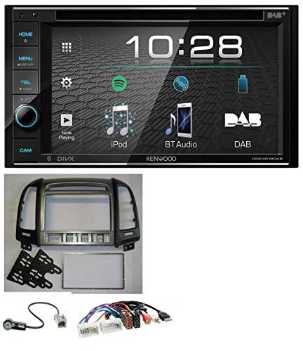 caraudio24 Kenwood DDX4019DAB USB DVD DAB MP3 Bluetooth 2DIN Autoradio für Hyundai Santa Fe AUX USB 4 Schalter ab 11