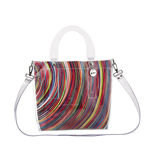 BI-BAG borsa donna modello DAILY VINTAGE + pochette Multicolore A Righe