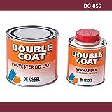 De IJssel Double Coat 2K Bootslack - Farbe Bordeaux/DC 856-500 Gramm Set - (Yachtlack, Decklack) Bordeaux Rot