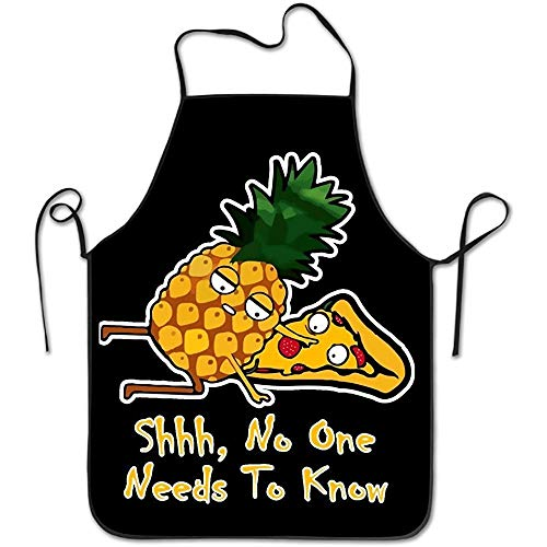 Pineapple Pizza Shirt Shhh No One Has To Know Home Kitchen Apron BBQ Kitchen Cooking Bib Apron For Women Men (Splatter-premium-t-shirt)