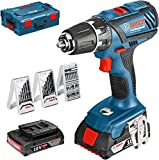 Bosch Professional 0615990H27 Set Perceuse-Visseuse sans Fil GSR, 18 V, Multicolore