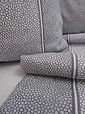 Pago Poco Bettwäsche für Einzelbett aus Flanell BORBONESE Grau Reine Naturfaser 100%