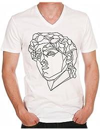 David Michel Ange H T-shirt,cadeau,Homme, célébrité,Blanc,t shirt homme