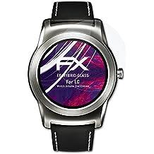 LG Watch Urbane 2nd Edition Glasfolie - atFoliX FX-Hybrid-Glass hartbeschichtete elastische 9H Kunststoffglas Folie - besser als Echtglas Panzerglas