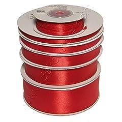 Idea Regalo - Nastro Rosso doppio raso h 06mm 50mt