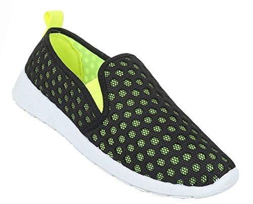 Damen Schuhe Halbschuhe Slipper Freizeitschuhe Freizeitschuhe Schwarz Coral Modell Nr. 1Schwarz