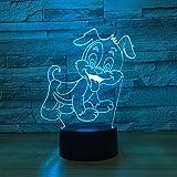 Eisbär 3D Lampe LED Hai USB Tischlampe Nachtlichter 3D Hund 7 Farben Wechselnden lampe Frosch Jahr Geschenk Für Kinder Geschenk Souvenir FR Hund Eine Größe