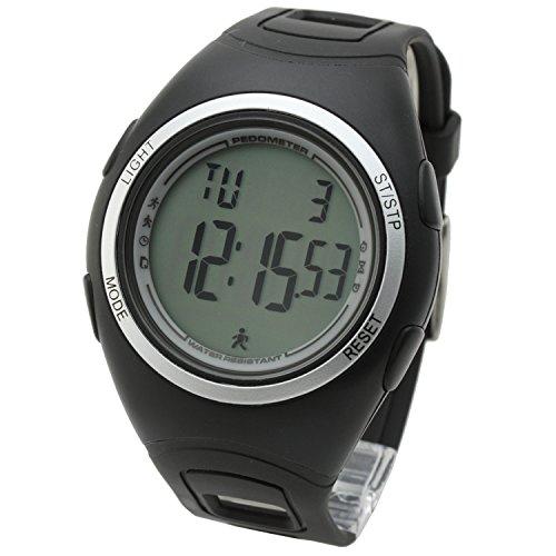 [LAD WEATHER] 3D Beschleunigungssensor Schrittzähler Übung & Fitness Kalorienzähler Laufen/Joggen/Gehen Sportuhr Herren Armbanduhr
