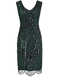 Kleid 20er grun