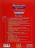 Image de Vocabulaire progressif du français - Niveau intermédiaire - Corrigés - 2ème édition