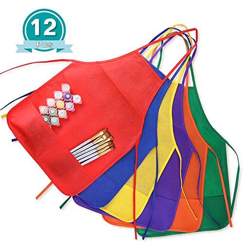 kuuqa-grembiule-per-pittura-bambini-6-colori-confezione-da-12