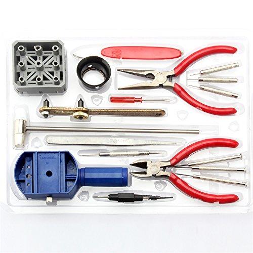 YUDA 18PCS Allgemeine Uhr-Reparatur-Werkzeug-Installationssatz-Band-Bügel-Verbindungs-Remover-Öffner Zurück NEW