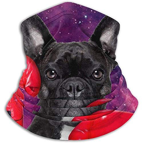 Linger in divertente cane boxe con guanti rossi tema animali scaldacollo ghette passamontagna maschera da sci maschera viso cappelli cappelli