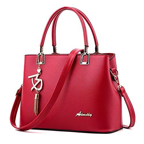 Blu Marina Borsa a Tracolla Fashion Borsa in Pelle PU Elegante Da Donna Borse a spalla Borse a tracolla per le signore Rosso Borsa
