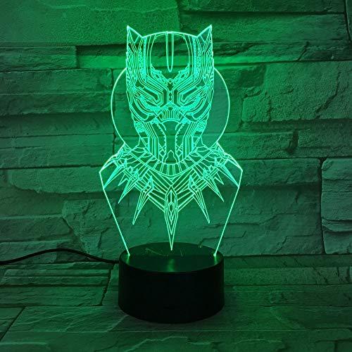 3D Cartoon Usb Led Neuheit Maske Nachtlichter Schlaf Beleuchtung Luminaria De Mesa Nacht Figur Form Tischlampe Kinder Schlafzimmer Dekor (Maske Cartoon Wolf Die)