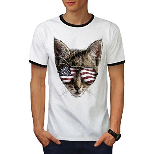 Flagge Jaguar (wellcoda Katze Flagge Männer S T-Shirt Zurück)