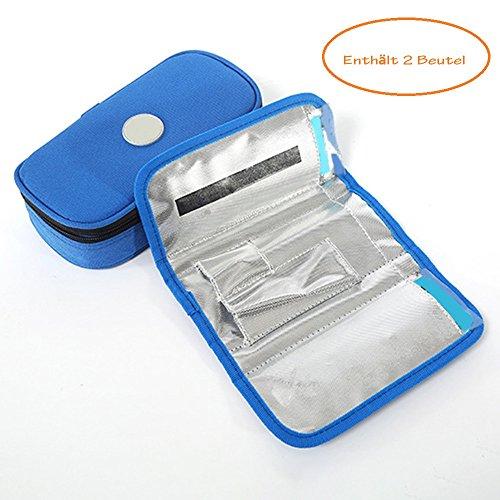 Enshey Portable Insulin Kühltasche Kühler Krankheitsfall für Diabetes Insulin und Medikamente nach Hause reisen Gebrauch, blau