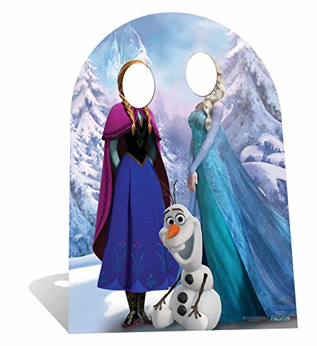 Disney - Decorated real-size cardboard for photos, Frozen design