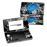 Nintendo 3DS Skin Schutzfolie 4-teilig für alle Seiten Design modding Sticker Aufkleber My Blue Heart