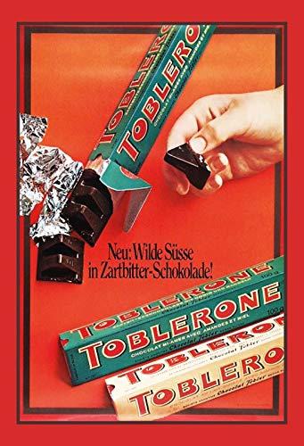 generisch Blechschild 20x30cm Toblerone Schokolade Reklame Retro Werbung Schild Nostalgie - Toblerone-schokolade