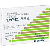 SEIRIN S-NS1204 Spinex, Agujas, S, 0,12 mm x 4 mm, 100 Piezas