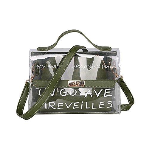 c8f56c546 Majome Bolso transparente de las mujeres Bolso transparente de la jalea del  PVC pequeño bolso de la playa del verano del bolso femenino de Crossbody  Bolsos