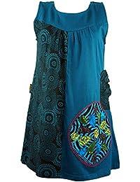 Vestido túnica de la colgante-Chic - / túnicas colour azul