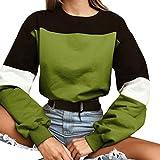 Yesmile Felpe Tumblr Ragazza,Camicia Maglietta Donna Casual Manica Lunga Camicetta Camicette T-Shirt Felpa Donna con Cappuccio