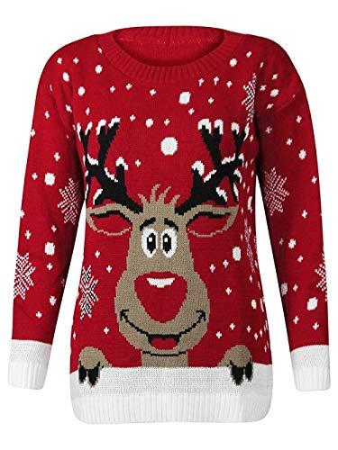 get the trend blush avenue®, maglione a tema natalizio unisex, lavorato a maglia