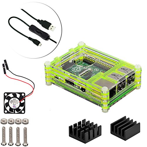 raspberry-pi-3-model-b-pi-2-b-pi-b-desktop-starter-kit-green-casecooling-fanmicro-usb-cableheat-sink