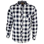 Tokyo Laundry Men's 'Alhambra' Checked Long Sleeve Casual Shirt White-Navy S
