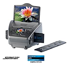 Somikon SD-1400 Scanner de diapositives, photos et négatifs avec capteur 14mpx et carte SD
